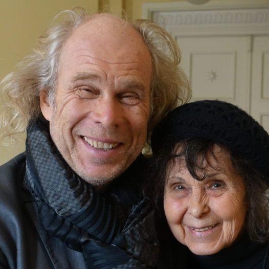 Dirigenten Andres Mustonen og Sofia Gubaidulina. Tallinn oktober 2016