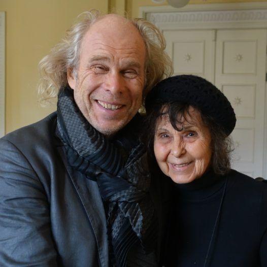 Dirigenten Andres Mustonen og Sofia Gubaidulina. Bodil Maroni Jensen