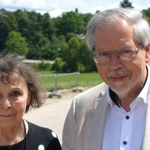 Sofia Gubaidulina og forlagsdirektør i Sikorski, Hans-Ulrich Duffek. Gohrisch 25. juni 2017