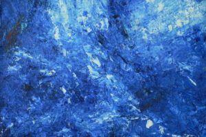 Bodil Maroni Jensens maleri Blå hendelser