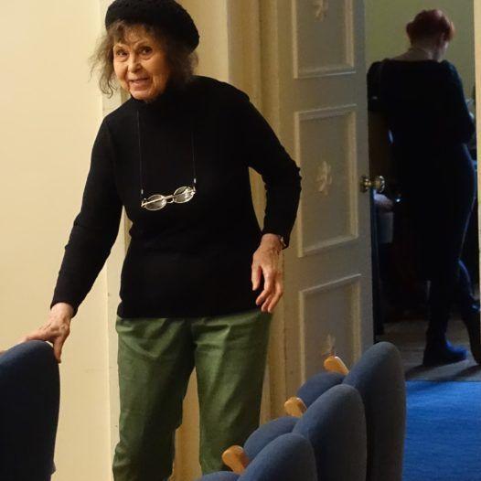 Sofia Gubaidulina og ung kvinne. Tallin 13.10.2016