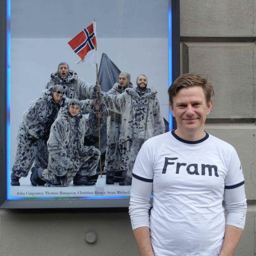 Librettisten Tom Holloway utenfor Bayerische Staatsoper i München, i forbindelse med urpremieren på South Pole, 31.januar.2016