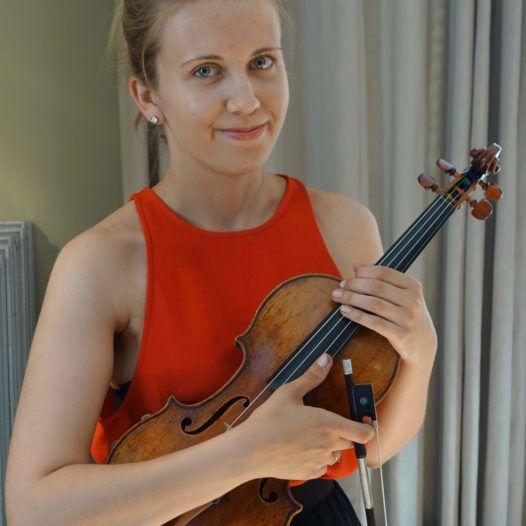 Fiolinisten Aliisa Barrière. Sentralen i Oslo 31. mai 2018