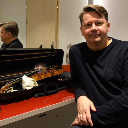 Peter Herresthal i en pause under generalprøven på Wagner-Saariaho-konserten med Stavanger symfoniorkester. 13.09.2018