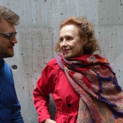 Regissør og forfatter Aleksi Barrière og komponisten Kaija Saariaho. Stavanger konserthus 13.09.2018