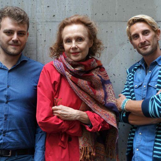 Regissøren og forfatteren Aleksi Barrière, komponisten Kaija Saariaho, dirigenten Clément Mao-Takacs, Stavanger 13.09.2018