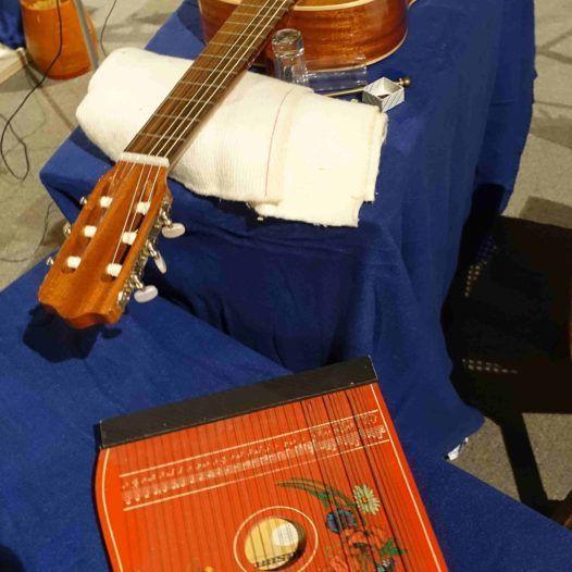 Instrumenter Sofia Gubaidulina brukte på improvisasjonskonserten i St. Johannis-kirken i Hamburg.