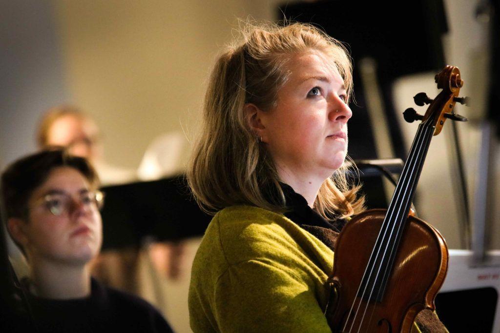 Konsertmester Maria A. Carlsen. Ensemble Allegria