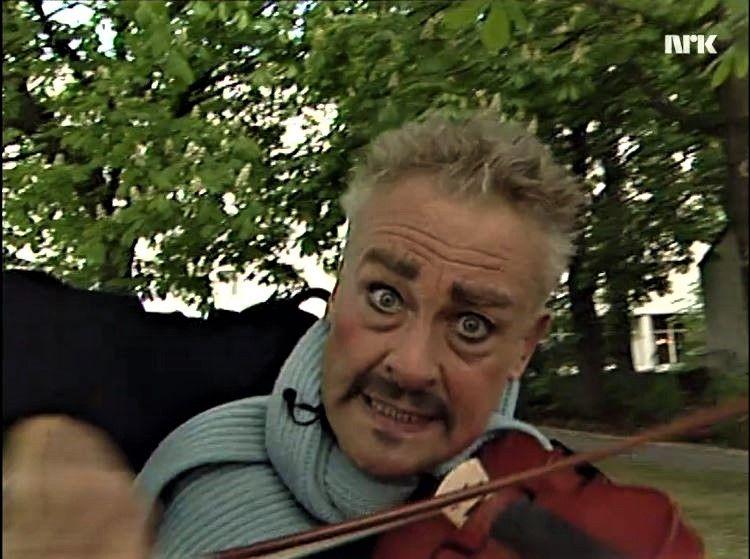 Professoren. Skjermdump fra et NRK-program i1994.
